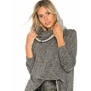 We The Free Cowl Neck Raised Stitch Slouchy Top M